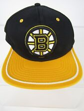 Boston Bruins Fanatics Branded Iconic Emblem II Adjustable Snapback Hat Black