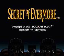 Secret Of Evermore - SNES Super Nintendo Game