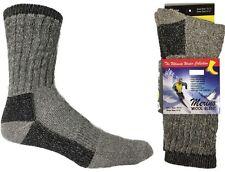 4 Pack Men Merino Wool Blend Thermal Crew Socks10-13 Winter Hiking cold Resis.