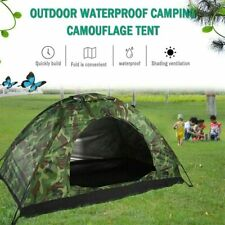 Outdoor Camping 2 Person Tent Waterproof Folding Camouflage Family Travel Hiking