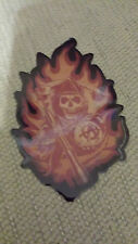 Sons Of Anarchy S.O.A. Reaper In Flames Sticker Biker Samcro FX Channel