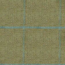 Sand with Sky Blue Check Tweed - 2.50 Mtrs