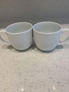 Set Off 2 Beautiful Denby White Mugs.