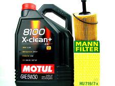 Motul 8100 X-CLEAN + 5w30 ACEITE DE MOTOR 5L + Filtro Mann HU719/7x cambio kit