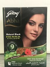 Godrej Abha Henna ( Natural Black )Hair Color Powder 60gm .