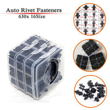 630PCS / Set Auto Body Push Pin Rivet Fasteners Clips Trim Bumper Moulding Door