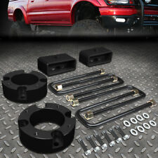 """FOR 07-18 TOYOTA TUNDRA BLACK 3"""" FRONT+2"""" REAR STRUT TOP MOUNT LEVELING LIFT KIT"""