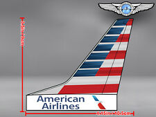 AMERICAN AIRLINES AA AIRCRAFT TAIL WITH NEW LIVERY AND LOGO DECAL / STICKER