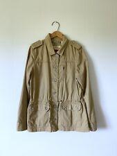 Large Womans LEVIS Khaki Tan Anorak Parka Jacket Coat