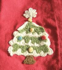 Vintage Pottery Barn Napkins & Placemats Christmas Tree for 4 Embroidered Rare