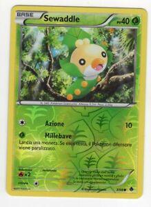 Pokemon Sewaddle 3/98 Comune reverse - Nuove Forze ITA Mint