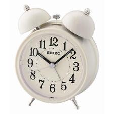 Seiko Bell Alarm Clock with Light and Snooze - Cream Analog QHK035C