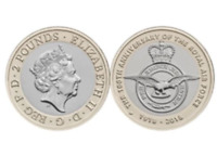 New 2018 100th Anniversary Of Royal Air Force 2 Pound Coin Brilliant Uncirculate