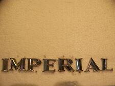 1964 1965 CHRYSLER IMPERIAL TRUNK LID EMBLEMS OEM SET