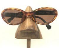 Vintage Vogue VO2187-S W922 Tortoise Brown Black Oval Sunglasses Frames Italy