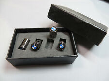 Premium Quality Stainless Steel Dust Caps inTitanium Grey With BMW Logo