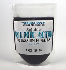 1 Ounce Soluble Humic Acid Powder - Potassium Humates - Natural Humus Fertilizer