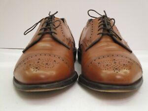Men's Allen Edmonds Sanford Walnut Cap Toe Oxfords Size 9 EEE