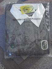 Bitburger Langarm Poloshirt gr.L/XL noch verpackt in grau