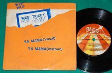 "Wuf Ticket - Ya Mama BRAZIL ONLY PS 7"" Single 1983 Prelude"