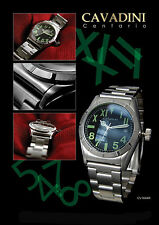 Sporty Solid Men's Watch by Cavadini california-design Complete Stainless Steel