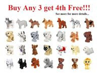 ☀️NEW Lego PICK YOUR DOG ANIMAL Puppy Lot Friends Pets Farm Outdoor City Parts