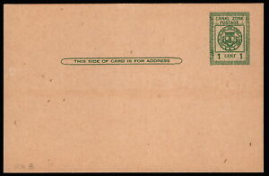 Canal Zone - 1925 - 1 Cent Green Seal of the Canal Zone Postal Card # UX8 Mint