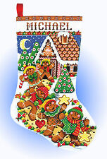 Cross Stitch Kit ~ Design Works Gingerbread Friends Christmas Stocking #DW5952