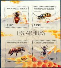 BURUNDI 2012 MNH 4v SS, Honey bee, Insects
