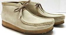 Clarks Mens Originals Wallabees Beige Suede Leather Chukka Desert Boots 10.5 M