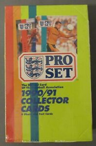 Pro Set 1990-91 Football Association Soccer Cards Factory Sealed Box 48 Packs