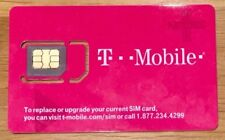T-Mobile SIM Card> BRAND NEW>> Came with new phone >> Just plug in and go