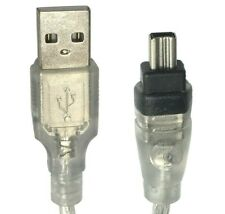 USB 2.0 to 4-Pin Firewire Cord Cable for Computer PC Mac to Digital Camcorder