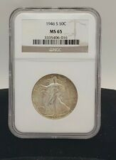 1946 S Walking Liberty 50c MS65 NGC GRADED COIN SAN FRANCISCO  MINT