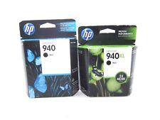 GENUINE 2 HP 940 and 940XL Ink Cartridges C4906AN C4902AN Black HP 8500 8000