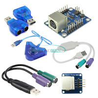 Dual PSX PS1 PS2 Female to USB Male Adapter Converter Keypad Driver for Arduino