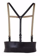 BCBG black CORSET Contour Suspender HARNESS wide BELT buckle strap sz L, XL