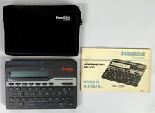Franklin Wordmaster Deluxe Dictionary Model Wm-1055 Merriam Webster Euc H8