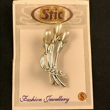 STIC Handmade Fashion Jewellery - Art Deco Pendant Brooch Pin!