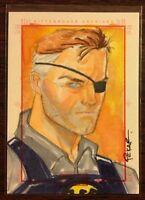 Nick Fury Marvel 70th Anniversary color sketch card 1/1 Joe Pekar