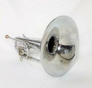F. E. Olds & Son Ultratone Valve-Rotor Mellophone Bugle w/ Mouthpiece