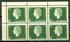 Canada #402pii 402ii Corner Block 6 UL Cameo Wide Narrow Tag Bars MNH