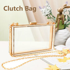 Acrylic Clear Transparent Evening Clutches Shoulder Bag Handbag for Women Ladies