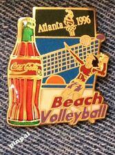 Beach Volleyball Olympic Pin~1996 Atlanta~Sponsor~Coca Cola~Coke~New Old Stock