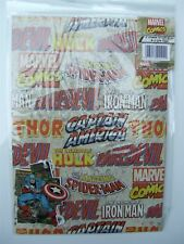 Marvel comics wrapping paper (gift wrap) & tags – 241099