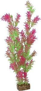 GloFish Plant Aquarium Decor Green & Pink XL 15 inch Aqua heavy weighted decor