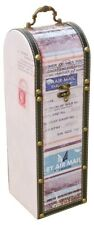 Air Mail Wine Bottle Carrier - Perfect Gift! (Holds a standard size wine bottle)