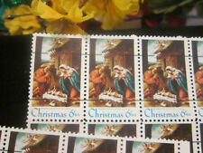 Christmas Stamps~Partial Sheet 6 cent w/NATIVITY Scene~Beautiful Holiday Stamps!