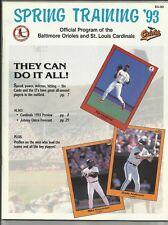 1993 Cardinals vs Rangers Spring Training Program---Nolan Ryan