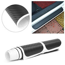 4X Scuff Plate Door Sill Cover Panel Step Protector Sticker Car 4D Carbon Fiber
